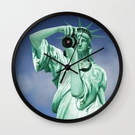 Say cheese for Liberty! Wall Clock