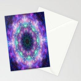 Trippy Purple Deep Space Mandala Stationery Cards