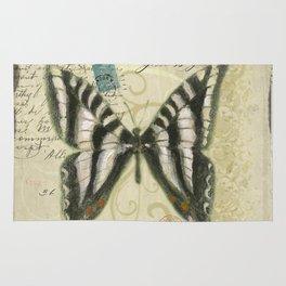 Zebra Butterfly Rug