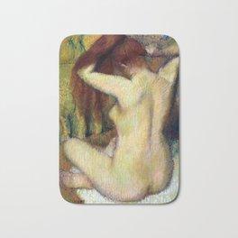 Edgar Degas Woman Combing Her Hair Bath Mat