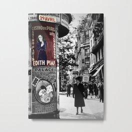 Edith Piaf 3 Metal Print
