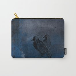 Two little crows blue sky dark night Carry-All Pouch