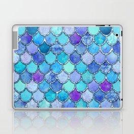 Colorful Blues Mermaid Scales Laptop & iPad Skin