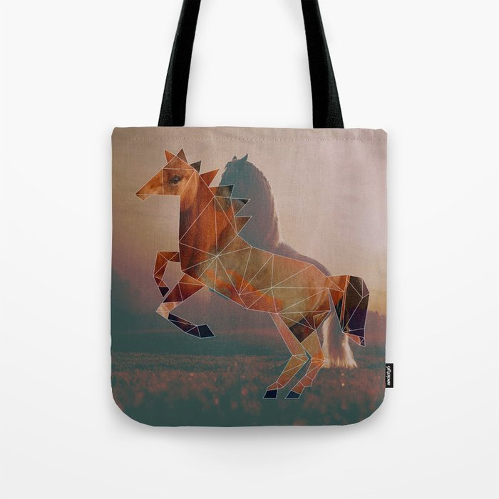 Horse with Horse Tote Bag