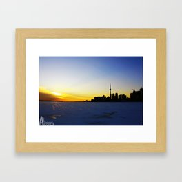 Toronto's Sunset Framed Art Print