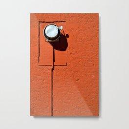 Industrial Red Metal Print