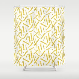food french fries Shower Curtain