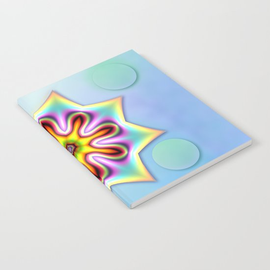 Decorative colourful silky star Notebook