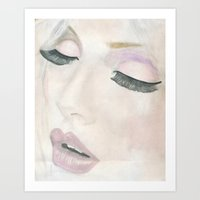 makeup Art Prints featuring Makeup by Kim Ly
