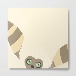 Curious Momo Metal Print