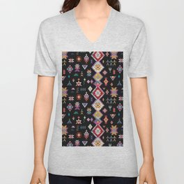KILIM NO. 5 IN INK Unisex V-Neck
