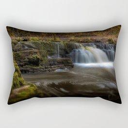 Afon Pyrddin waterfall Pontneddfechan Rectangular Pillow