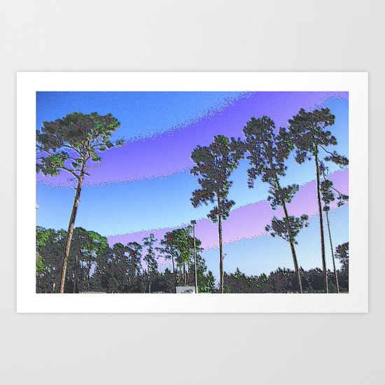 Tall Trees in Enamel Art Print