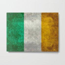 Flag of Ireland, Vintage retro style Metal Print