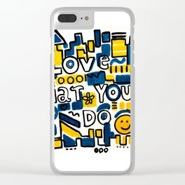 Fun LOVE and colorful art BED COMFORTER or Shower Curtain Clear iPhone Case