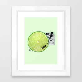 LIME DJ Framed Art Print