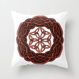 Celtic Knotwork Circle Throw Pillow