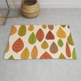 Geometric Leaves Rug
