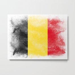 Belgium flag isolated Metal Print