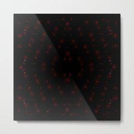 Minimalist Red Splatters on Black Metal Print