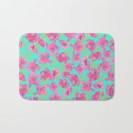 Pink Floral seamless Pattern Bath Mat