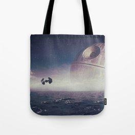 Death Star Over The Sea Tote Bag