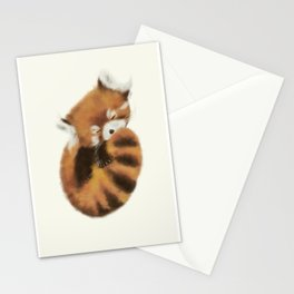Baby Red Panda (Off-White) Stationery Cards