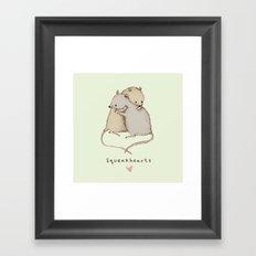 Squeakhearts Framed Art Print