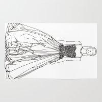 fashion illustration Area & Throw Rugs featuring Fashion Illustration by Vanessa Antonina