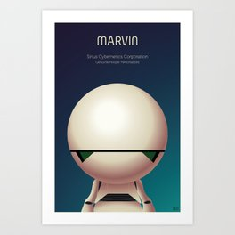 Marvin the Android Art Print