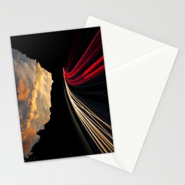 timelapse car red Stationery Cards