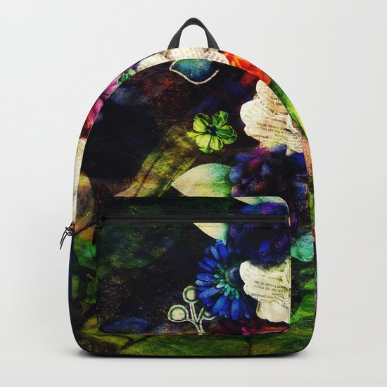 floral beauty marble Backpack