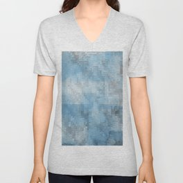 Abstract blue pattern 3 Unisex V-Neck