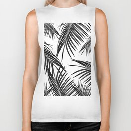Black Palm Leaves Dream #1 #tropical #decor #art #society6 Biker Tank