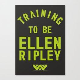 Training to be Ellen Ripley (Black) Canvas Print