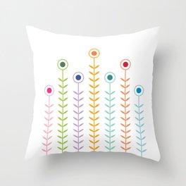 Minimalist Flowers (Multicolour) Throw Pillow