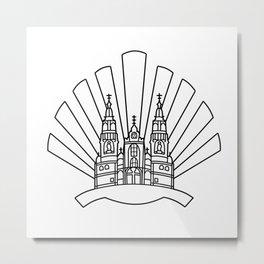 Santiago de Compostela Metal Print