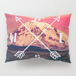 Snowy Mountain Compass Pillow Sham