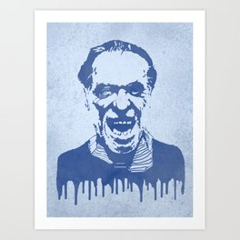 Charles Bukowski Abstract Art Print