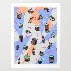 Atomic Munchies Art Print