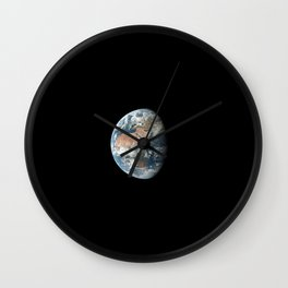 View of Earth showing Africa Europe and Asia taken from the Apollo 11 spacecraft during its trans-lu Wall Clock