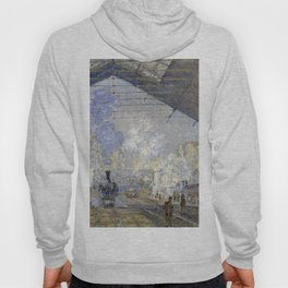 1877-Claude Monet-The Saint-Lazare Station-75 x 104 Hoody