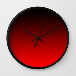 Black Red Neon Nights Ombre Wall Clock