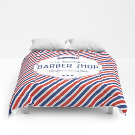 Mr. Moustache Barber Shop Comforters