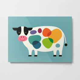 Awesome Cow Metal Print