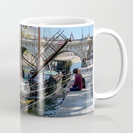 Old barge near the Pont Neuf - Paris Coffee Mug