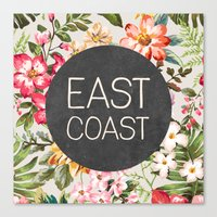 tupac Canvas Prints featuring East Coast by Text Guy