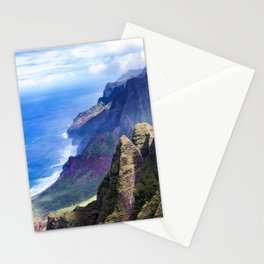 Hawaiian Coastal Cliffs: Aerial View From The Angels Stationery Cards
