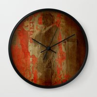 battlefield Wall Clocks featuring 最後の戦士  (The Last Warrior on the Battlefield) by Fernando Vieira