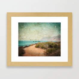 Come With Me to the Sea Framed Art Print